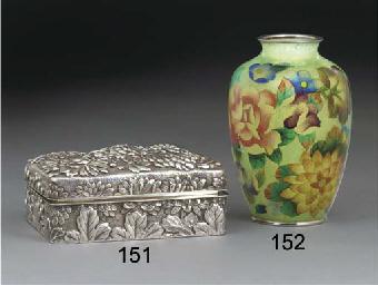 A Japanese plique-a-jour vase,