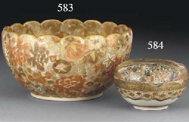 A Satsuma floriform bowl, 19th