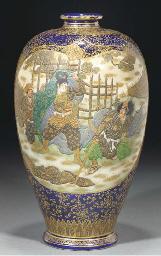 A Satsuma baluster vase, 19th