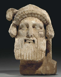 A ROMAN MARBLE HERM HEAD OF DI