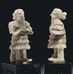 A MESOPOTAMIAN GYPSUM MALE WOR