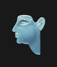 AN EGYPTIAN GLASS INLAY