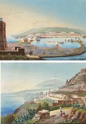 Veduta di Messina; e veduta di