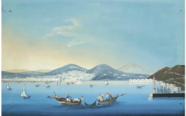 Veduta di Palermo con pescator