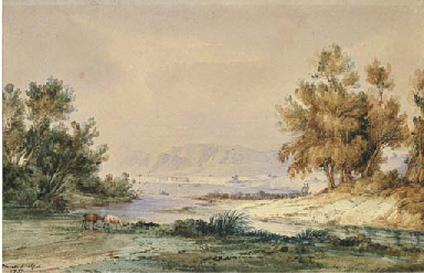 Veduta di Paestum, 1835