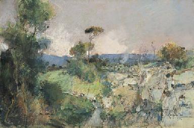 Paesaggio con figure