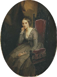 Ritratto di signora in interno