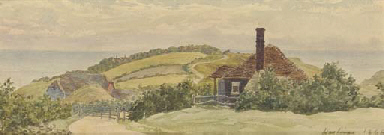 Cottage on headland near Hasti