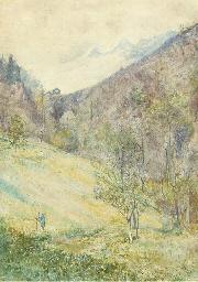Swiss mountain scene