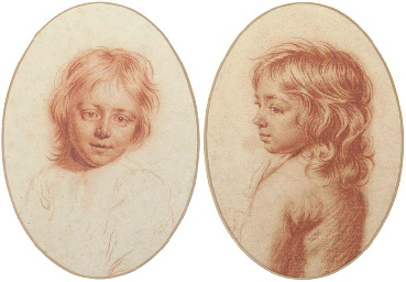 Two portrait studies of childr