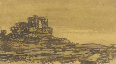 A castle in a landscape