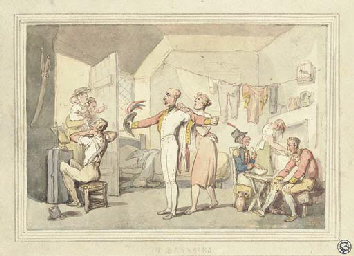 The barracks: An officer being