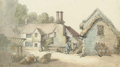 View of Cottage and barnyard