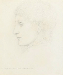 Portrait of lady, in profile t