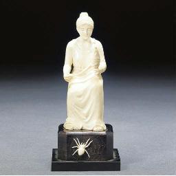 A cavrved ivory figure
