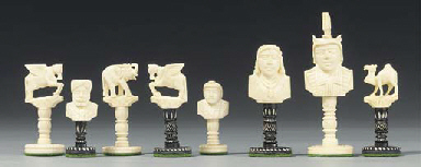 An Indian carved ivory bust ty