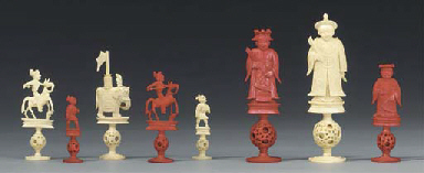 A Cantonese carved ivory figur