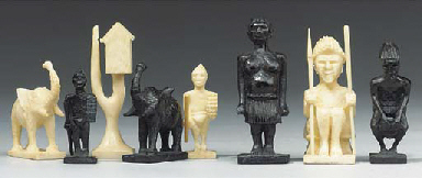 An East African carved ivory a