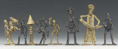 A West African brass figural c