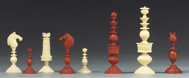 An English ivory chess set