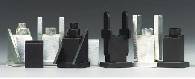 An Aluminium chess set
