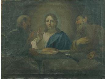 Cena in Emmaus; e Cristo e la