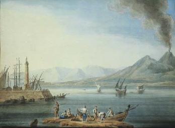 Pescatori al golfo di Napoli,