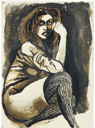 Ritratto di donna con calze