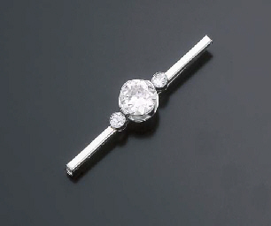 BROCHE BARRETTE DIAMANTS