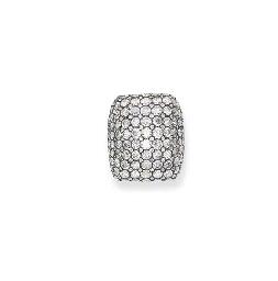 A PAVE-SET DIAMOND RING, BY MI