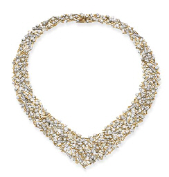 A DIAMOND ABSTRACT NECKLACE