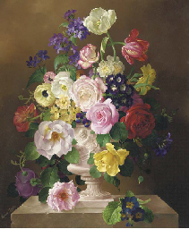 Summer flowers in a classical