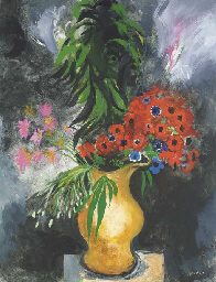 Anemones in a Yellow Jug
