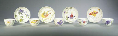 (10) A PART EGG-SHELL PORCELAI