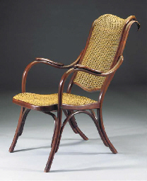A bentwood shaving chair