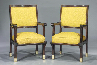 (2) A pair of carved rosewood