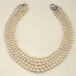 Collana in perle coltivate e d