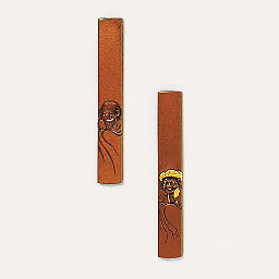 Two copper kozuka