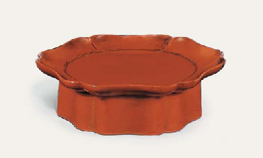 A Negoro lobed tray