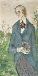Portrait d'homme au bouquet de