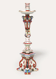 A RARE LARGE ENAMELLED CANDLES
