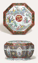 A FAMILLE ROSE OCTAGONAL BOX A