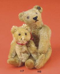 A miniature Steiff teddy baby