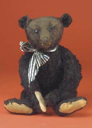 A rare Steiff black teddy bear