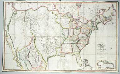 MELISH, John (1771-1822). Map