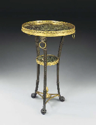 A RUSSIAN ORMOLU, PATINATED-BR