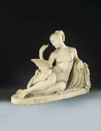 A CARVED WHITE MARBLE GROUP OF
