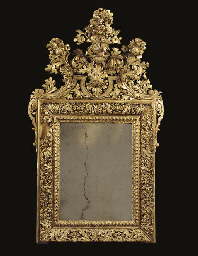 a swedish giltwood mirror