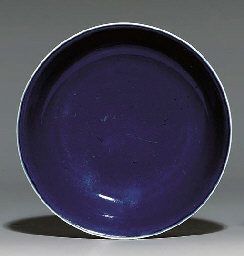 A BLUE-GLAZED DISH