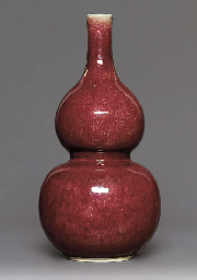 A LARGE RED-GLAZED DOUBLE-GOUR